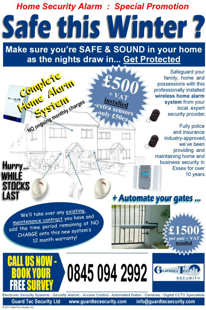 wireless home alarm offer image