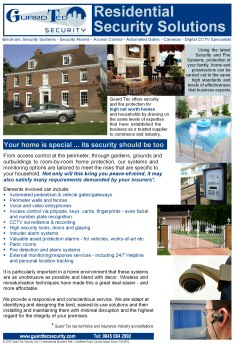 Residential Security flyer image